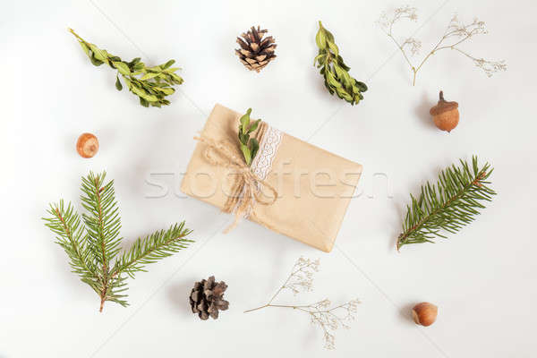 Christmas and New Year light composition Stock photo © artsvitlyna