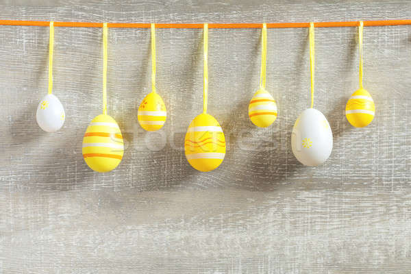 Páscoa férias amarelo cores luz Foto stock © artsvitlyna