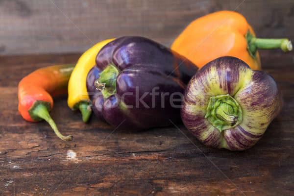 Stock photo: Multicolored hot and sweet pepper