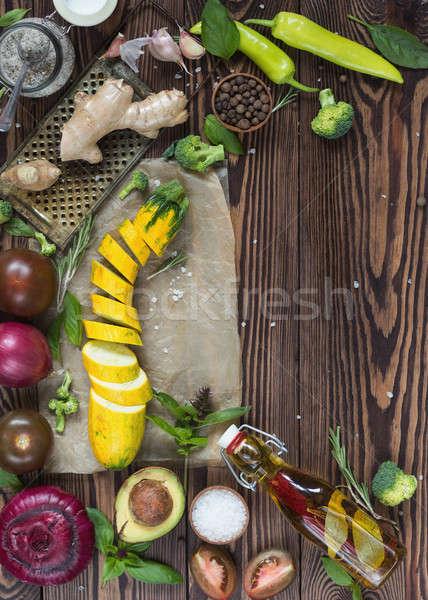 Topo ver orgânico naturalismo legumes frescos Foto stock © artsvitlyna