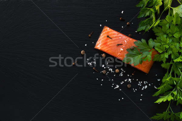 Stock photo: Preparing fresh seafood in the kitchen