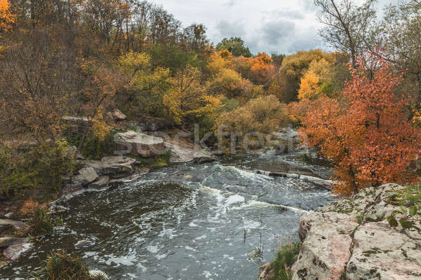 Stock photo: Terrific view of the River Canyon on a sunny fall dayTerrific vi