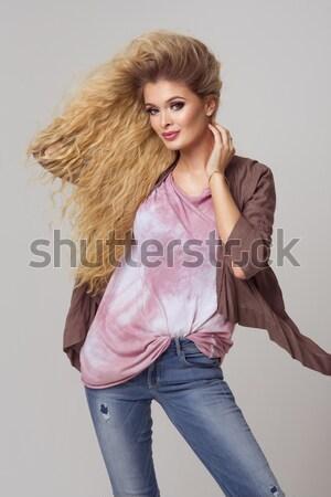 かわいい セクシー ブロンド 女性 スタジオ 愛 ストックフォト © arturkurjan