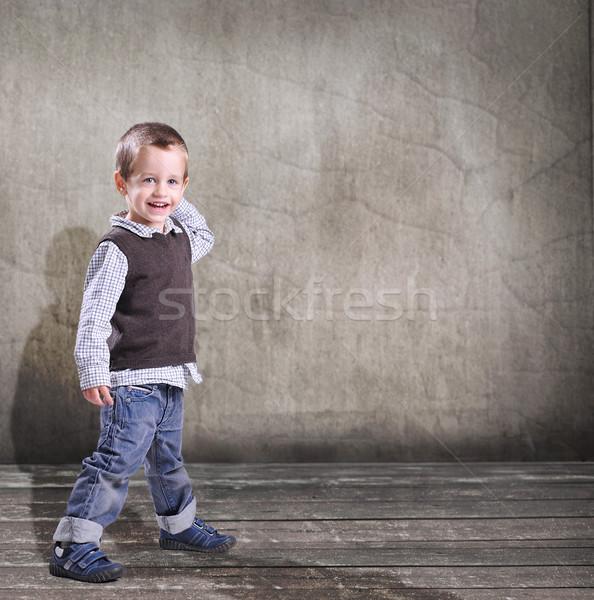 ストックフォト: 小 · 少年 · 赤ちゃん · 顔 · 背景 · 楽しい