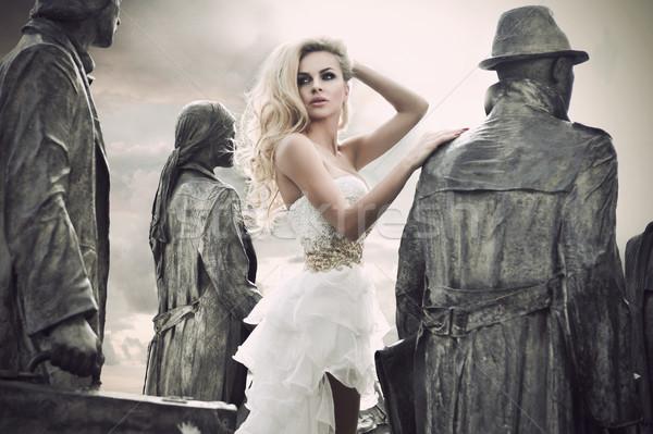 ストックフォト: ファッション · ショット · 若い女性 · 女性 · 結婚式 · 幸せ