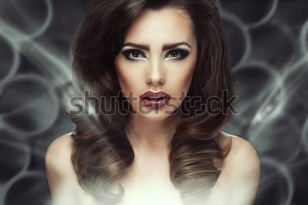 肖像 パーフェクト 女性 美 女性 顔 ストックフォト © arturkurjan