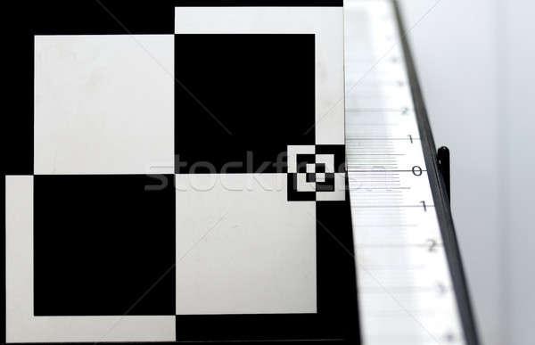 テスト ターゲット カメラレンズ テクスチャ 抽象的な 背景 ストックフォト © arturkurjan