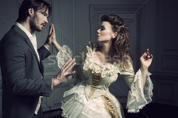 ストックフォト: ダンス · カップル · 女性 · 手 · パーティ · ファッション