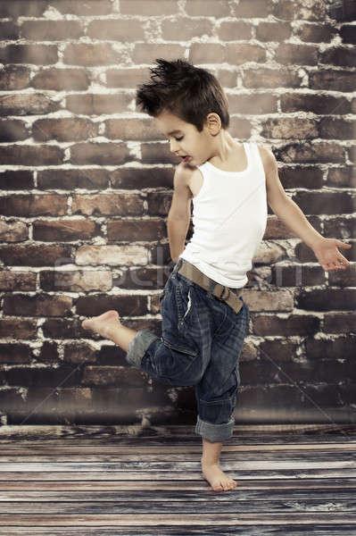 かわいい 小 少年 ダンス 手 子 ストックフォト © arturkurjan