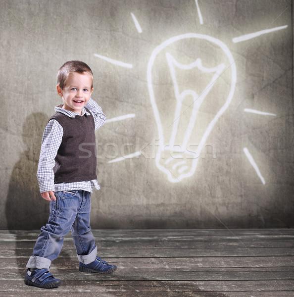 笑みを浮かべて 子 小 少年 赤ちゃん ストックフォト © arturkurjan