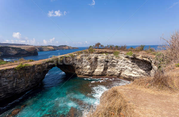 tunnel crater coastline at Nusa Penida island Stock photo © artush
