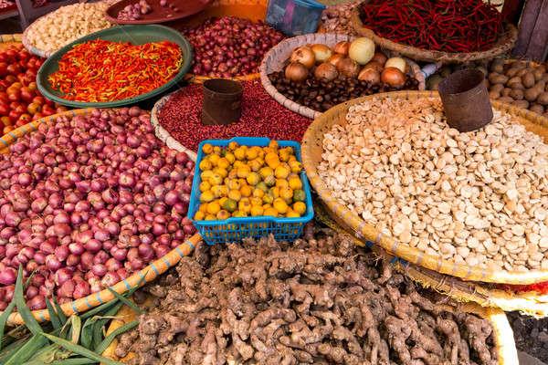 vegetables on traditional market Stock photo © artush