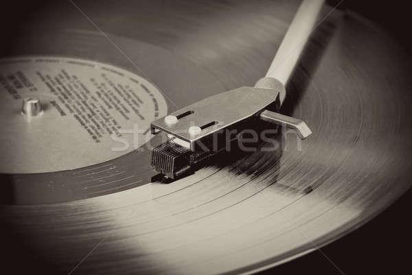 Klasszikus lemezjátszó bakelit bemozdulás kép lemez Stock fotó © artush