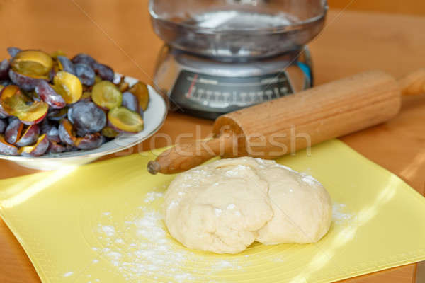 dough for plum cake Stock photo © artush