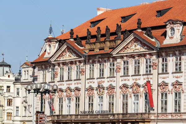 Galleria Praga Repubblica Ceca palazzo 2014 casa Foto d'archivio © artush