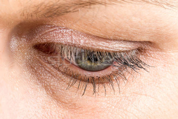 middle age woman eye macro Stock photo © artush