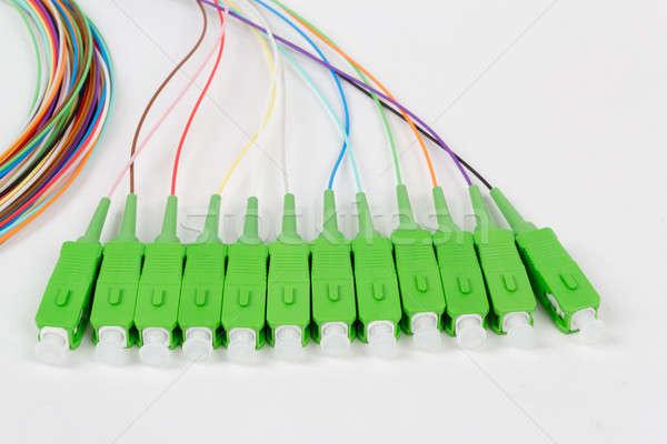 Zielone włókno optyczny komputera Internetu kontakt Zdjęcia stock © artush