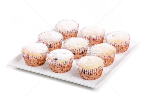fresh homemade Muffin on white background Stock photo © artush