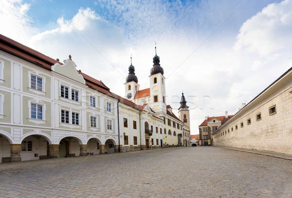 Csehország unesco város csetepaté házak fő- Stock fotó © artush