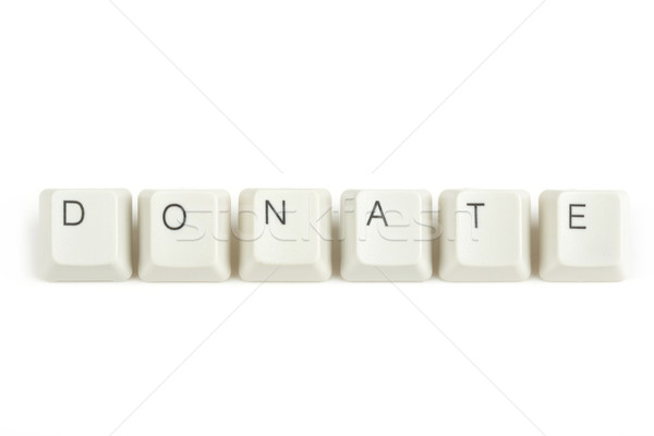 Faire un don clavier touches blanche texte isolé Photo stock © artush