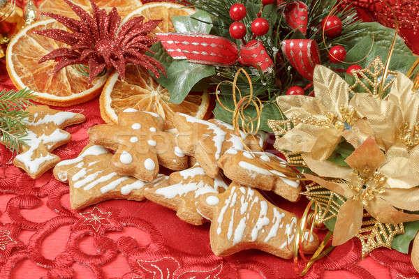 ストックフォト: クリスマス · 針 · オレンジ · スライス · 食品 · 中心