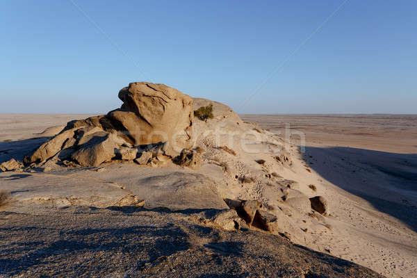 Skała pustyni wygaśnięcia krajobraz Namibia Afryki Zdjęcia stock © artush