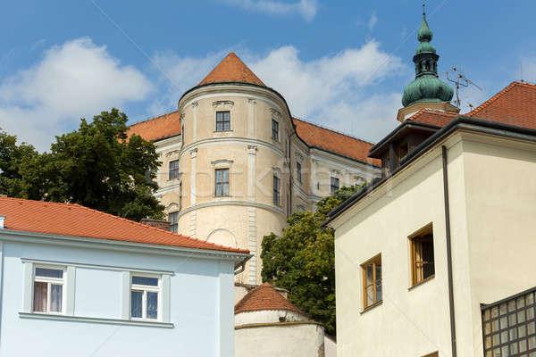 castle in city Mikulov in the Czech Republic Stock photo © artush
