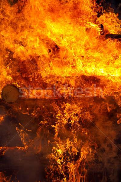 Grande fuego ardor religión Christian festival Foto stock © artush