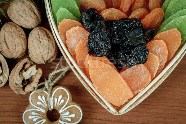 Christmas Dried Fruit and Nuts  Stock photo © artush