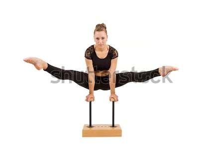 Stok fotoğraf: Genç · profesyonel · jimnastikçi · kadın · güzellik