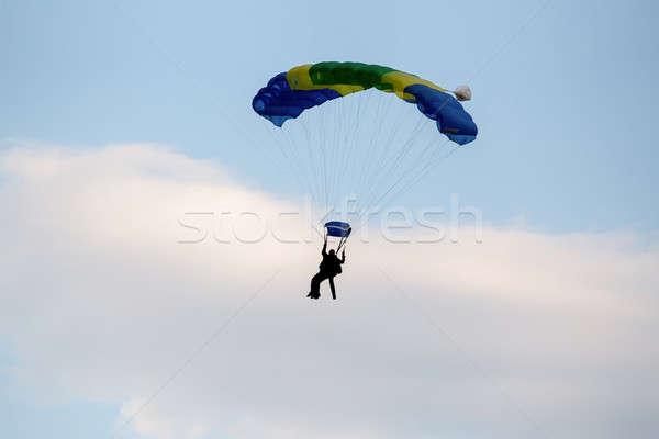 unidentified skydivers, parachutist Stock photo © artush