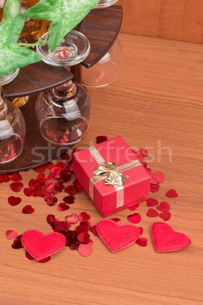 стекла винограда красный сердцах небольшой настоящее Сток-фото © artush