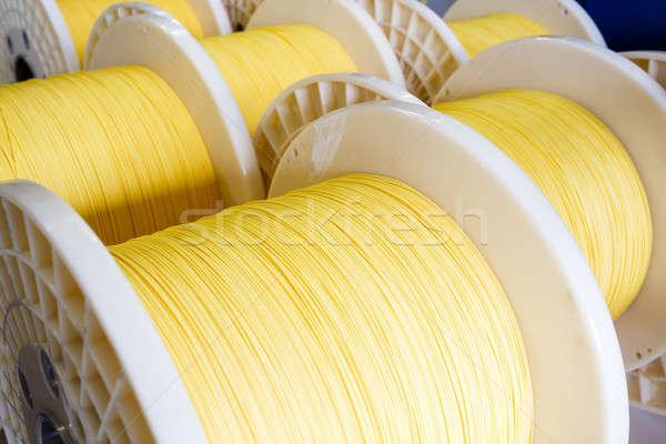 Grupo fibra ótico cabo ótico tecnologia Foto stock © artush