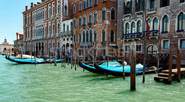 gondolas in lagoon Venice Italy Grand canal  Stock photo © artush