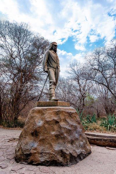 Statue of David Livingstone in The Victoria falls Stock photo © artush