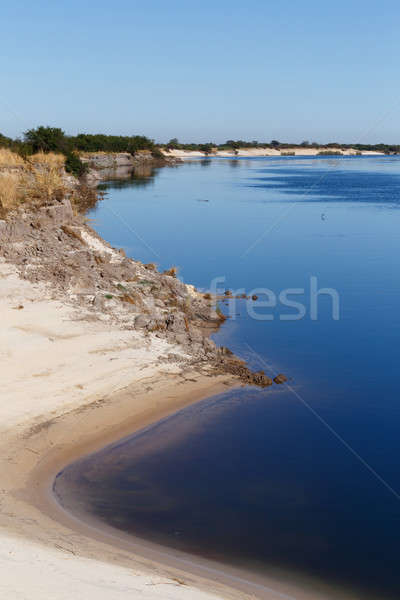 Banku rzeki Afryki region Namibia charakter Zdjęcia stock © artush