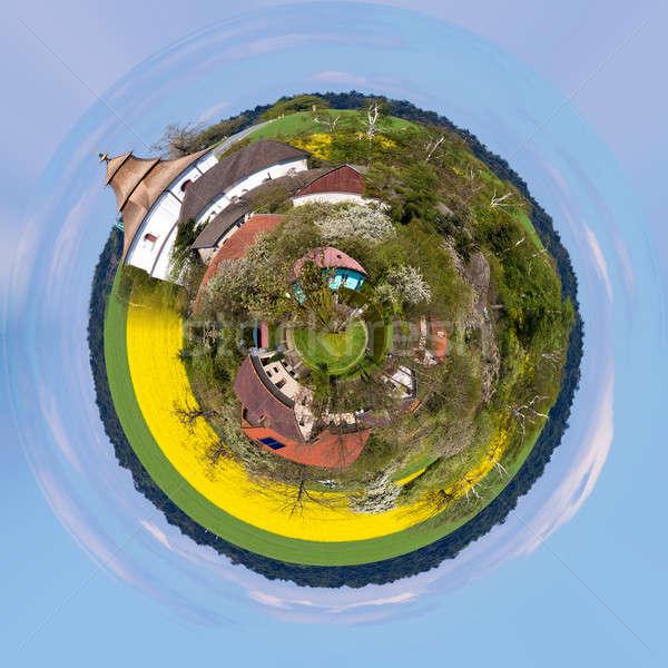 Small church in village Stock photo © artush