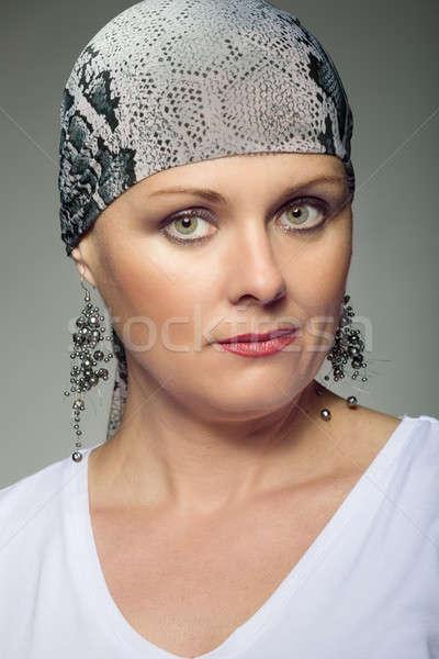 красивой средний возраст женщину рак пациент Сток-фото © artush