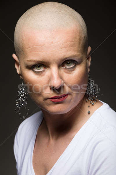 beautiful woman cancer patient without hair Stock photo © artush