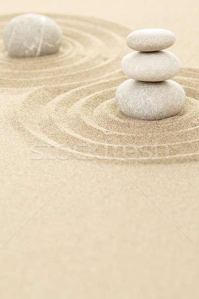 Dengelemek zen taşlar kum üç soyut Stok fotoğraf © artush