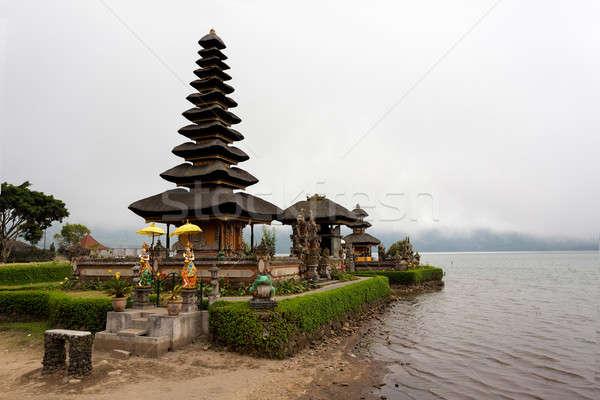 Su tapınak göl bali ünlü güneşli Stok fotoğraf © artush