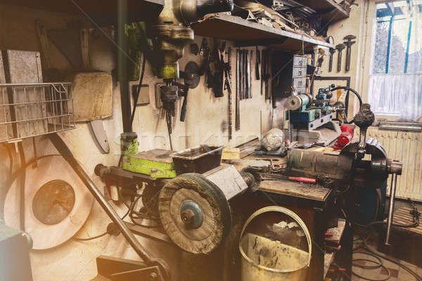 real domestic home  DIY workshop Stock photo © artush