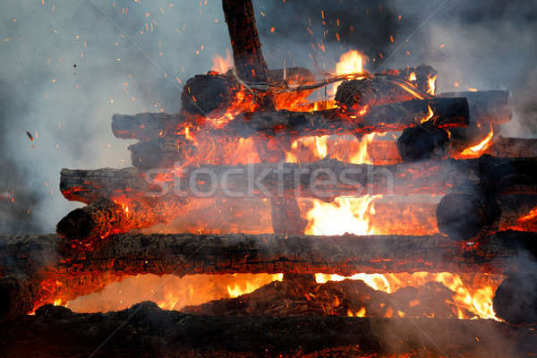 big fire, burning witches Stock photo © artush