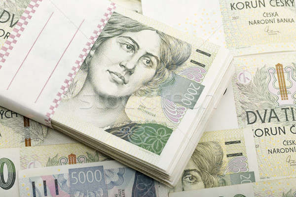 czech banknotes 5 and 2 thousand crowns Stock photo © artush