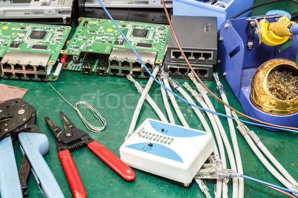 electronics equipment assembly workplace Stock photo © artush