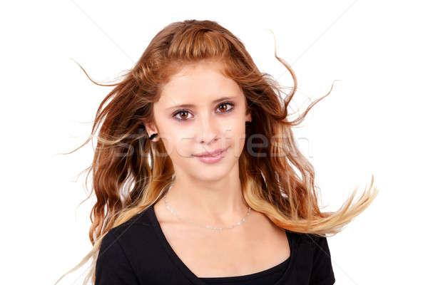 Studio portrait of young beautiful girl Stock photo © artush