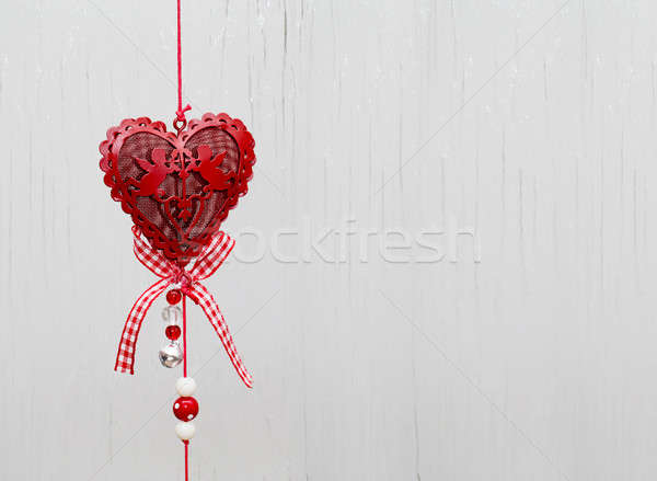 eart as a symbol of love/vintage card with red heart on Grunge v Stock photo © artush