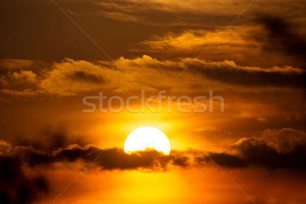 закат солнце облака весны сцена сумерки Сток-фото © artush