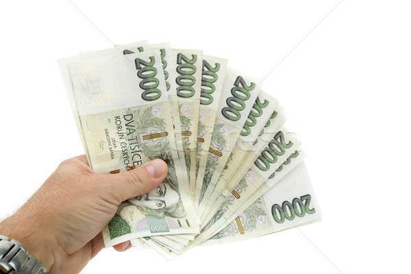 czech banknotes nominal value two thousand crowns Stock photo © artush