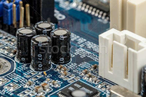 Photo stock: Ordinateur · circuit · carte · mère · électronique · circuit